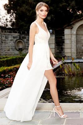 vestidos formales con manga corta