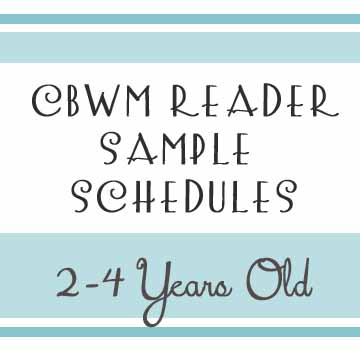 Reader Sample Schedules   And  Year Olds  Chronicles Of A