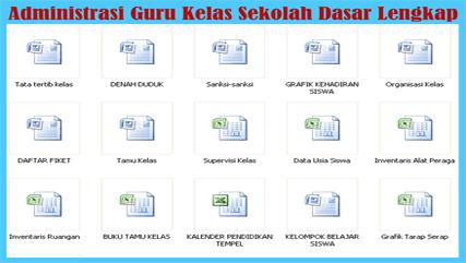 Kumpulan Administrasi Guru Kelas Sekolah Dasar (SD)