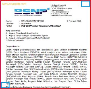 POS USBN SD SMP SMA SMK TAHUN 2018