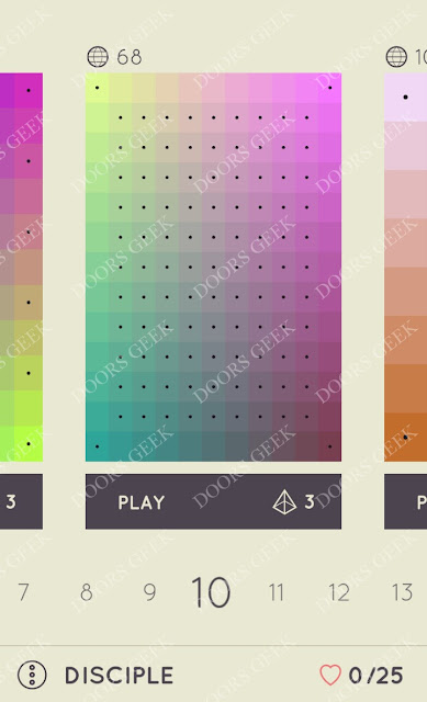 I Love Hue Disciple Level 10 Solution, Cheats, Walkthrough