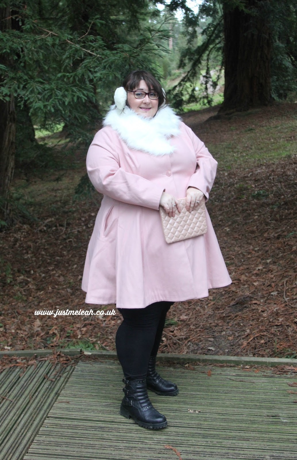 ASOS CURVE PLUS SIZE BLUSH PINK DOLLY COAT