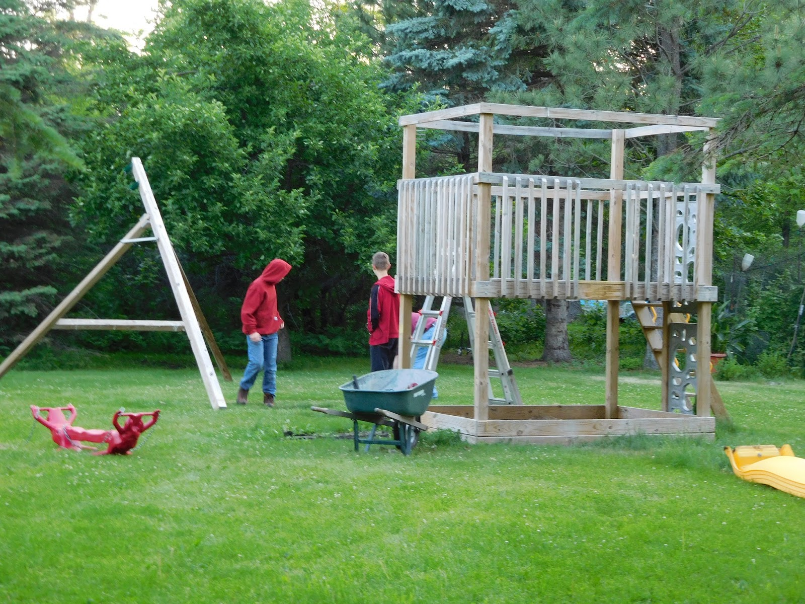 Treasures for Heaven: Moving a Swing Set