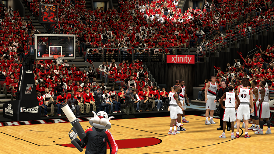 NBA 2K14 Portland Trail Blazers Playoffs Crowd Mod