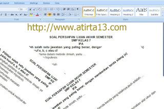 Contoh Soal UAS Kels 7,8,9 SMP Mapel IPA 015.Docs