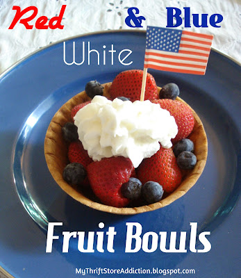 Red, white and blueberry fruit bowl
