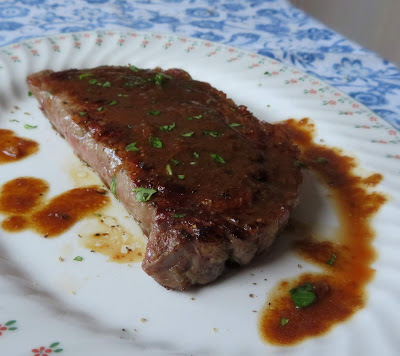 Sirloin Steak with a Ginger Butter Sauce