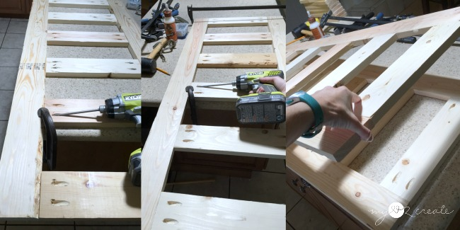 building a support frame for a coffee table