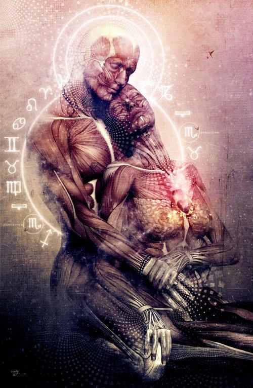 Cameron Gray parablev deviantart foto-manipulações photoshop surreal fantasia cósmica mística religião zen universo exótico