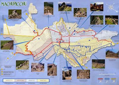 Mapa, Map, plano de Machu Picchu, Perú, La vuelta al mundo de Asun y Ricardo, round the world, mundoporlibre.com