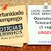 VAGA DE EMPREGO OURINHOS – Empresa de serviços abre VAGA em 18 de agosto