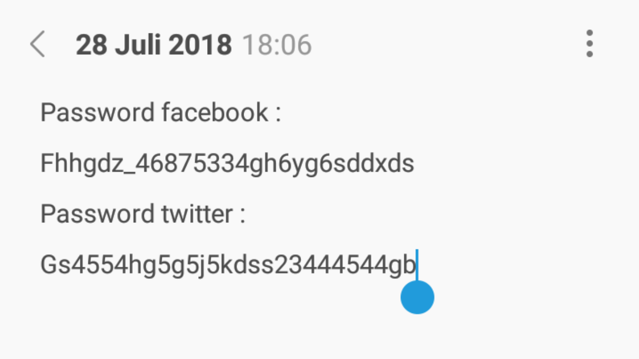 Catatan Password Untuk Keamanan Akun Internet Anda
