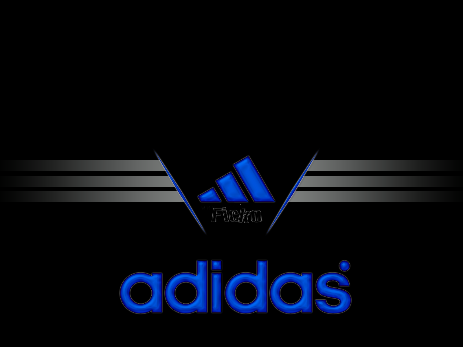 Adidas Logo 3d Wallpapers Hd Adidas Logo Black And White 3d