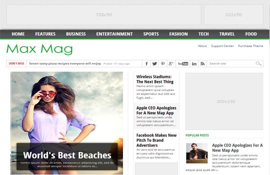 MaxMag Duyarlı Blogger Şablonu