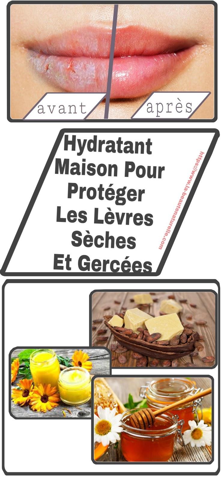 Hydratant Maison Pour Protéger Les Lèvres Sèches Et Gercées