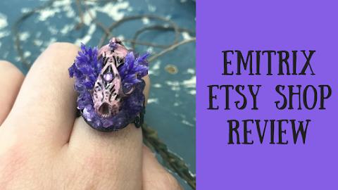 Emitrix Etsy Shop Resin Bat Skull Ring Review!