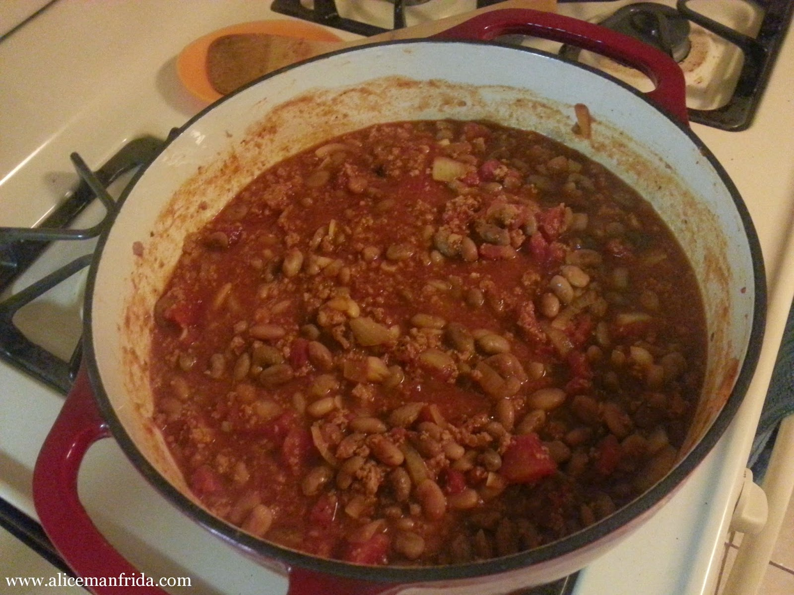 one pot meal, turkey, chili, beans, dinner
