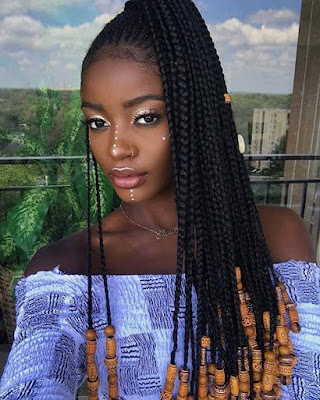 Similar to cornrows feed in braids are the new and hip style of  24+ ways To Do Feed In Ponytail with Side Braids Hairstyles