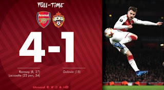 Arsenal Hajar CSKA Moscow 4-1 Highlights