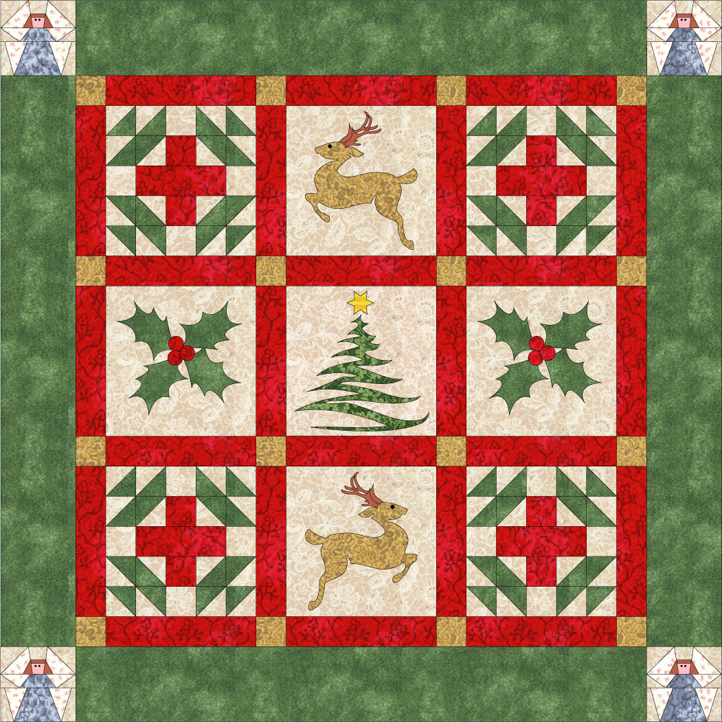 Debby Kratovil Quilts: Christmas in September - FREE Pattern