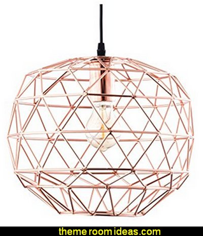 Geometric Pendant Light, Rose Gold
