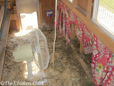 Keep It Moving: Install fans to promote airflow inside the coop. It's tough to fly with a lot of air turbulence.