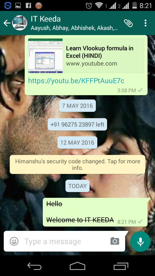 New WhatsApp Hidden features write BOLD ,ITALIC & STRIKETHROUGH (Android) 6