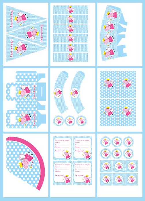 Como Decorar Festas Infantis Kit Gratuito Para Imprimir Da Peppa Pig