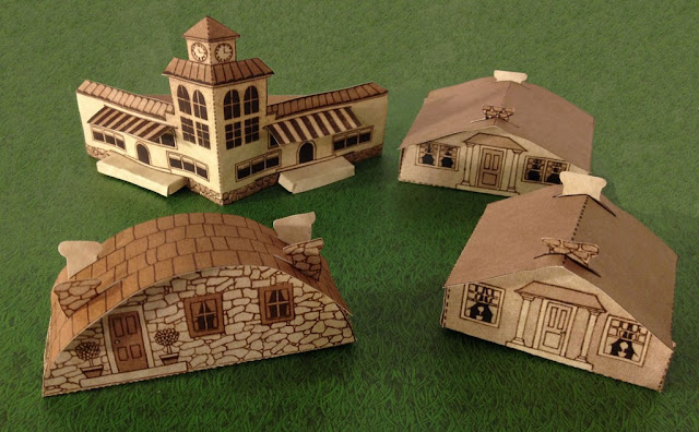 Papermau 1934 S Fold Up Houses Make Your Own Papercraft