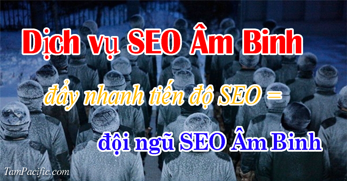 Dịch vụ SEO Âm Binh đẩy nhanh tiến độ SEO bằng đội ngũ SEO Âm Binh