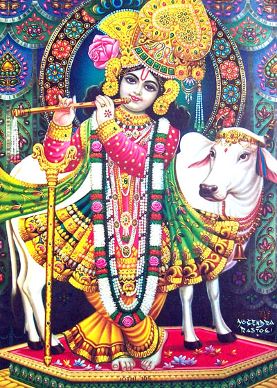 Krishna Image with Good Morning
