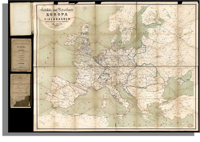 Harta  căilor ferate anul 1864
