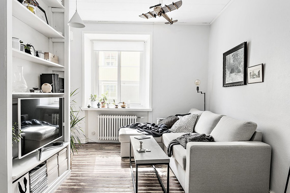 nordic style living room in small places