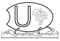 Alfabeto centopeia letra U