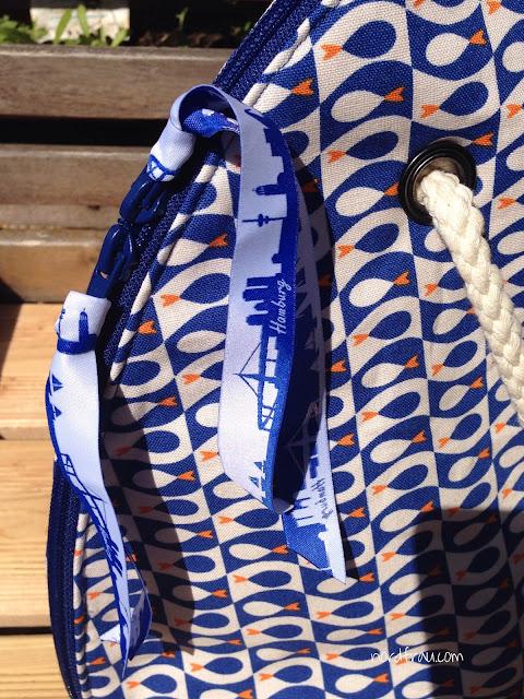 Bogentasche handmade maritim