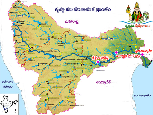 telugu web world krishna pushkaralu 2016 krishna river map