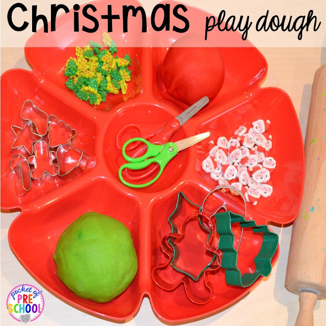 My go to Christmas themed math, writing, fine motor, sensory, reading, and science activities for preschool and kindergarten.