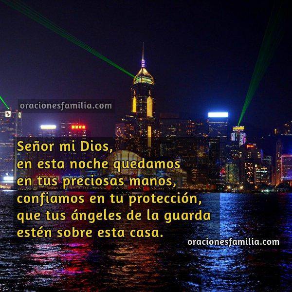 Imágenes con la oración de la noche, frases cristianas en tarjetas de oraciones de la noche por Mery  Bracho