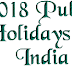 2018 Public Holidays in India