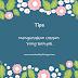 6 TIPS MENGURUSKAN URUSAN YANG BANYAK