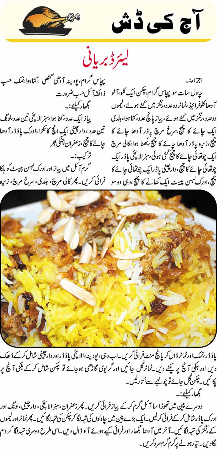 Layered biryani recipe in urdu urdu news tips articles layered biryani recipe in urdu forumfinder Images