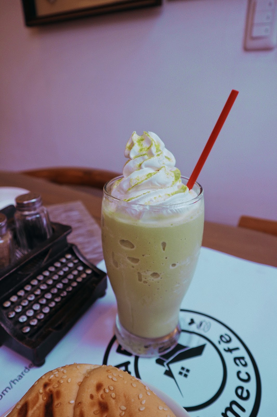 Harden Home Cafe Green Tea Milkshake