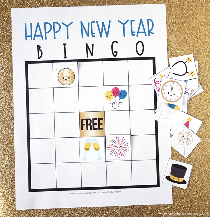 Free Printable New Years Bingo