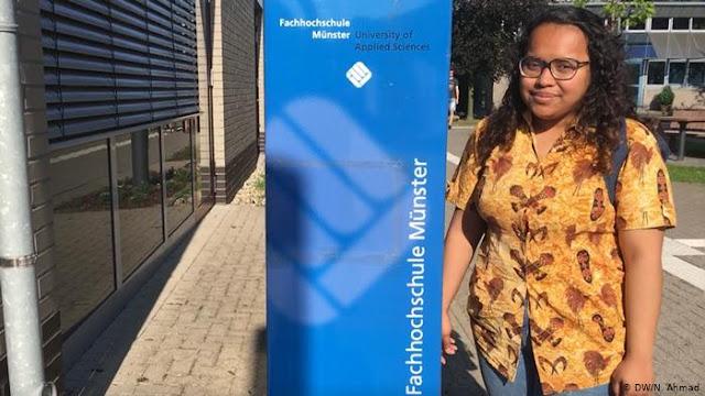 Dolfina Mansnembra dari Papua Belajar Ilmu Laser ke Jerman