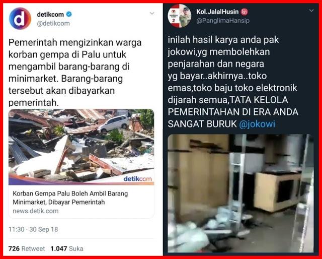 Kisah Sedih Pemilik Toko Yang Dijarah Pasca Gempa Palu-Donggala, Pemerintah Mau Bayar???