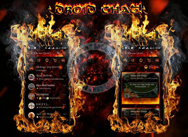 BBM Mod Droid Chat Legend Of Fire Theme v13.0.13 Base Versi 3.1.0.13 Apk TErbaru Clone Uncloone