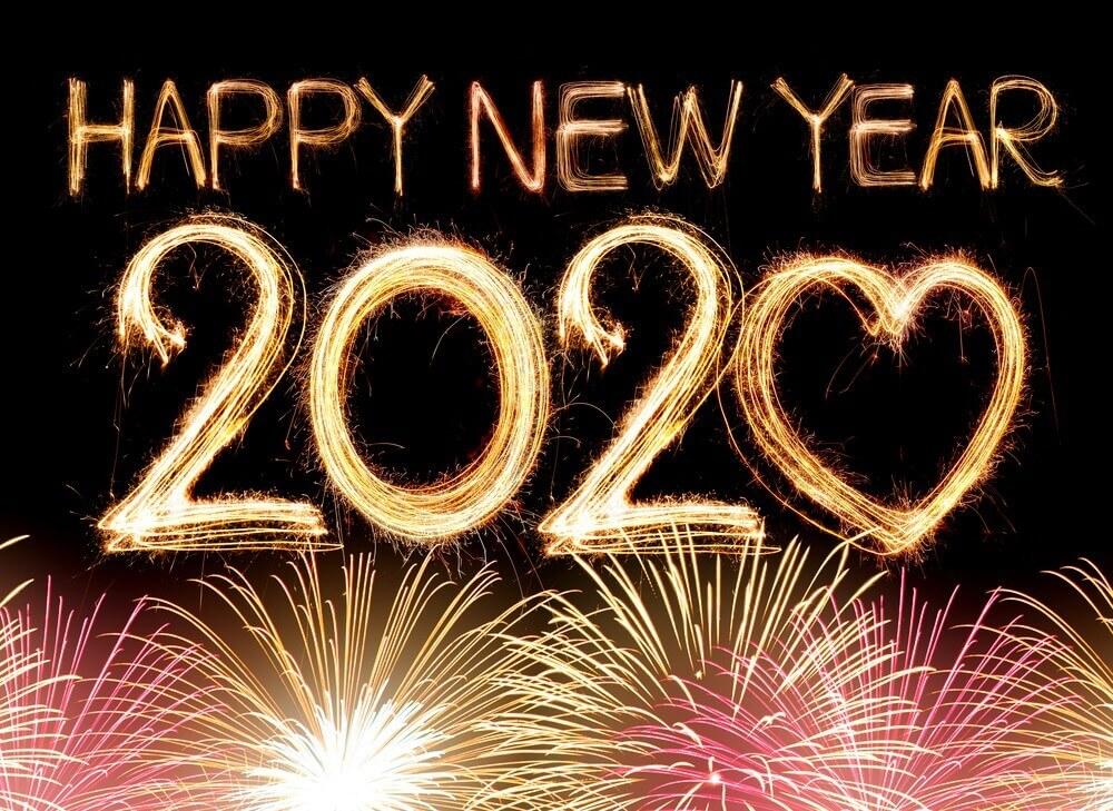 Happy New Year Firework Love Wallpaper 2020