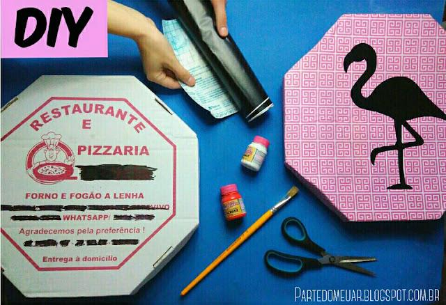 diy ideias com caixas de pizza