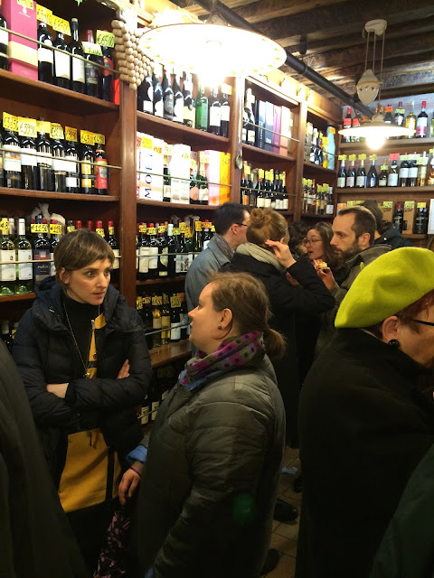 Wine shop in Venice Italy