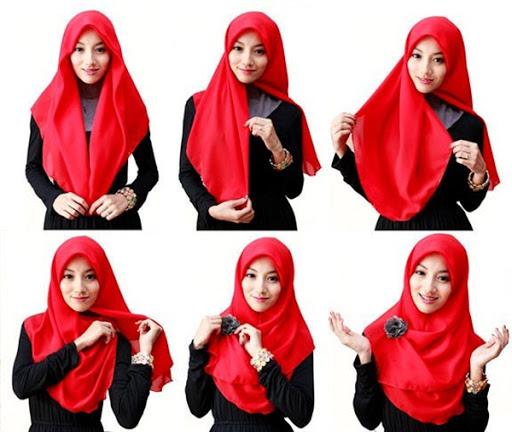 Tutorial Hijab Kantor Segi Empat Praktis Cara Kerudung Pashmina Terbaru